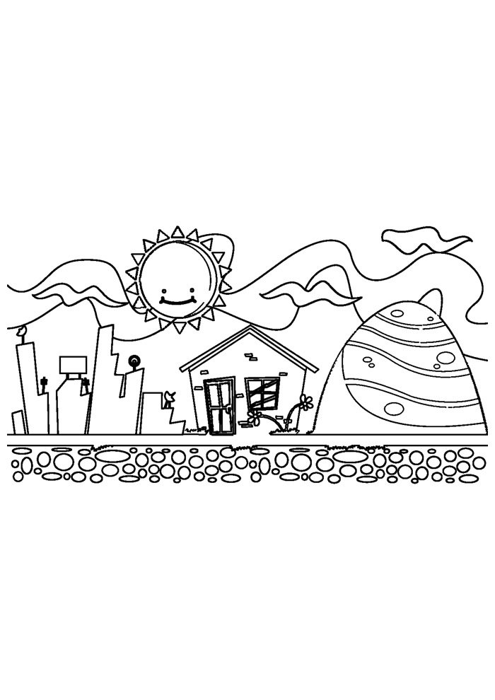 sun coloring page 9