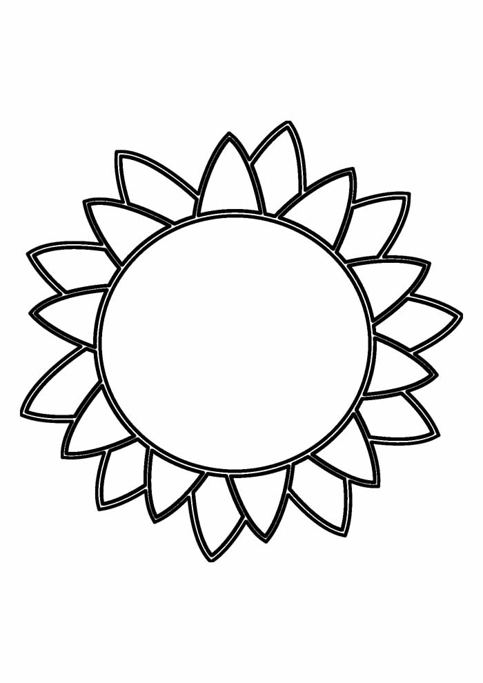 sunflower coloring page 18