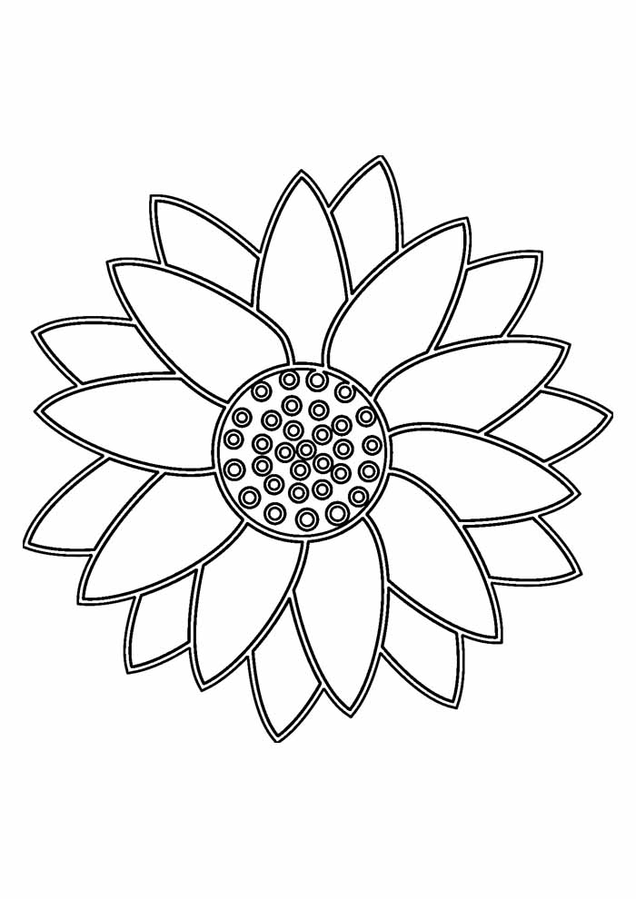 sunflower coloring page 19