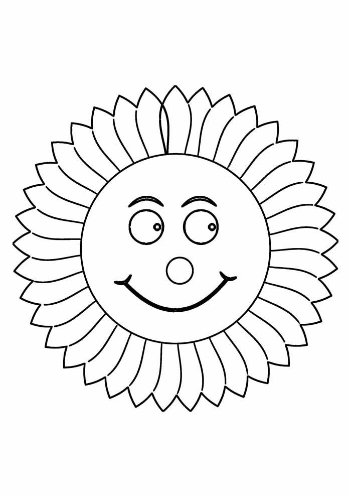 sunflower coloring page 24