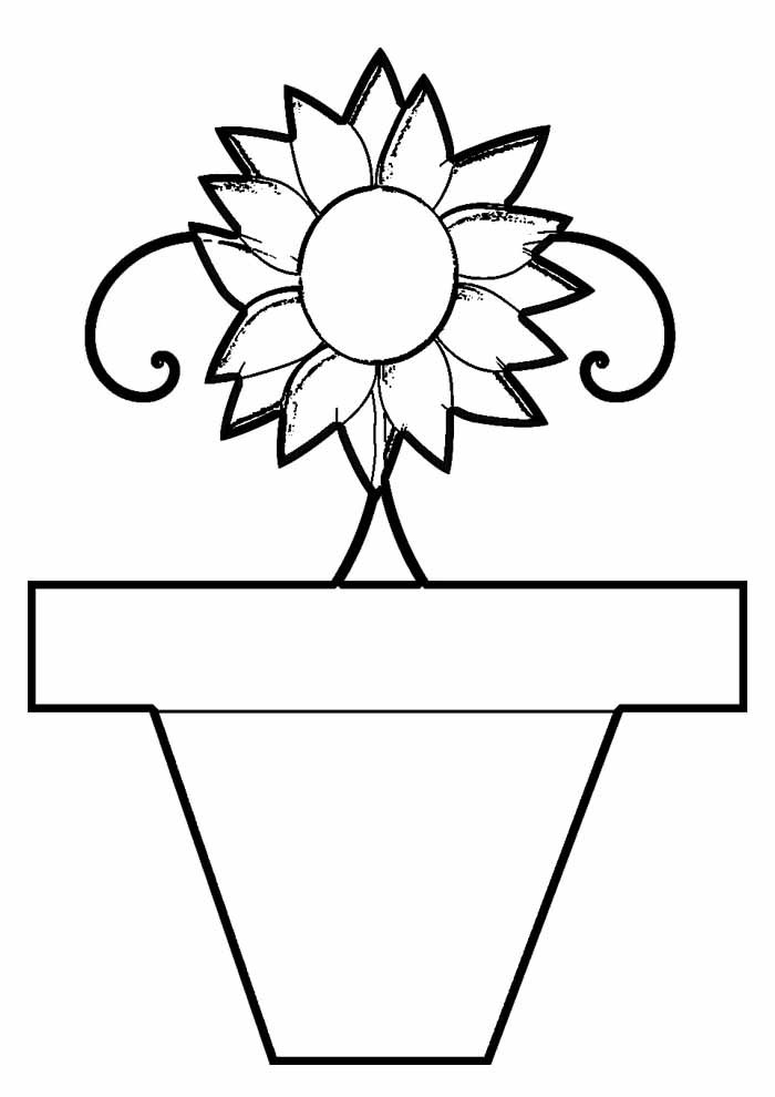 sunflower coloring page 25