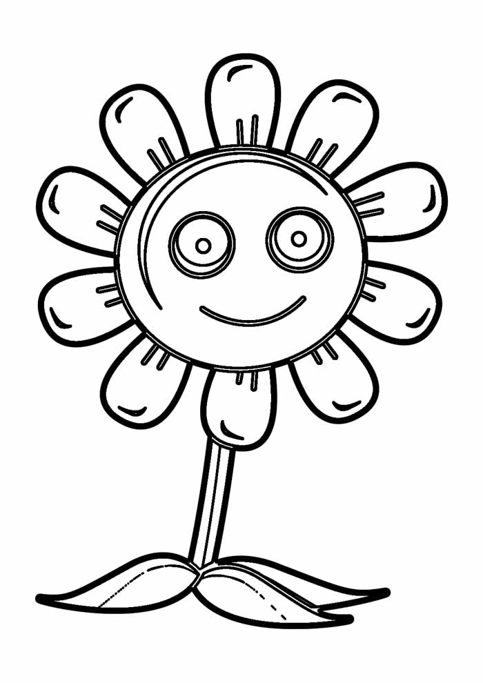 sunflower coloring page 28