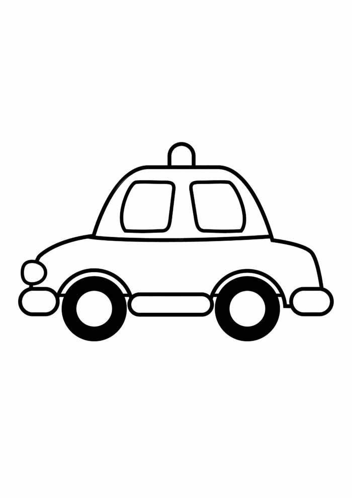 taxi coloring page for kids