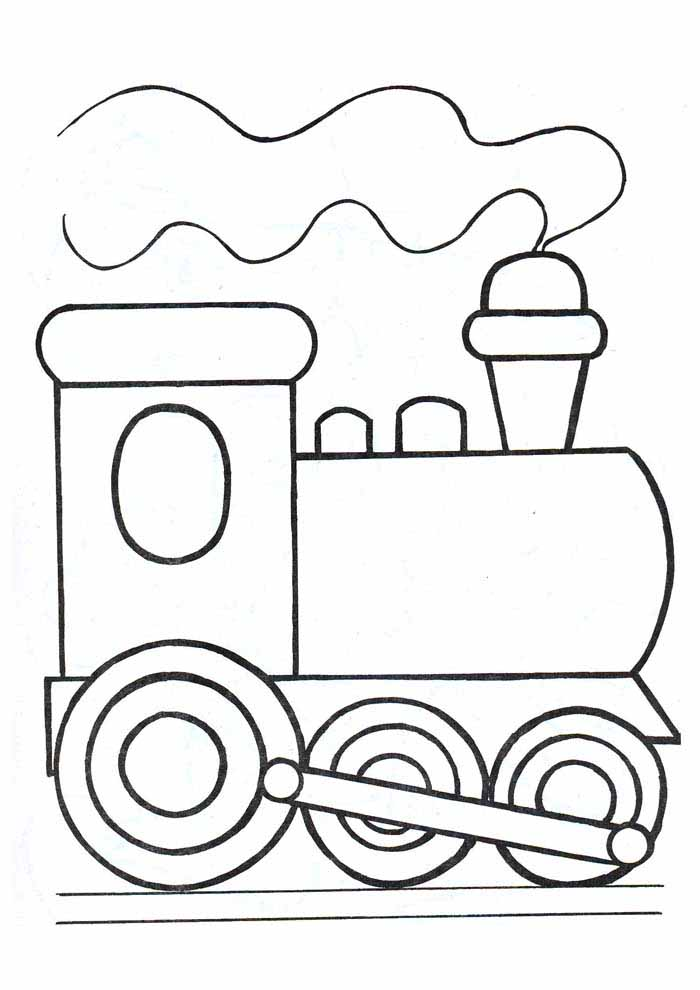 train coloring page for kids