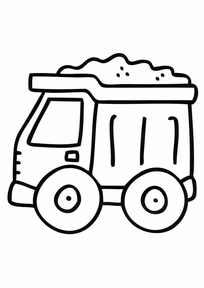 truck coloring page for kids