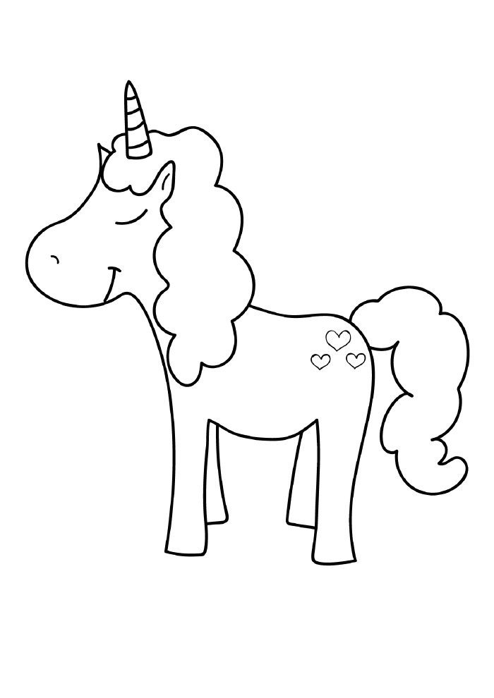 122 Unicornio Para Colorear Dibujos Para Colorear