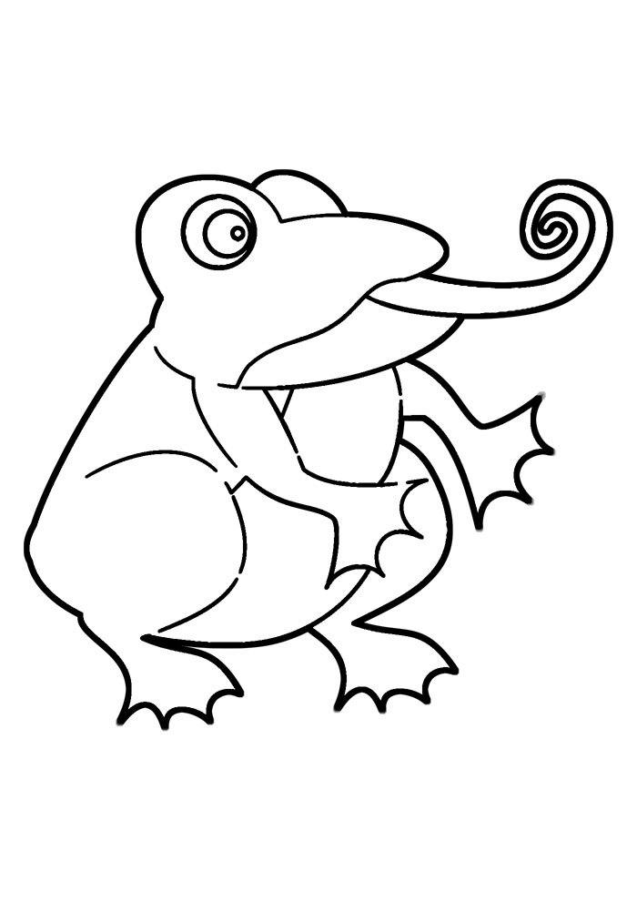 coloriage grenouille 24