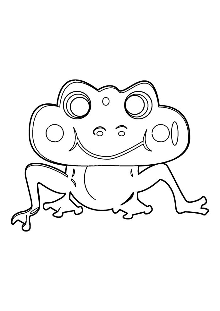 coloriage grenouille 25