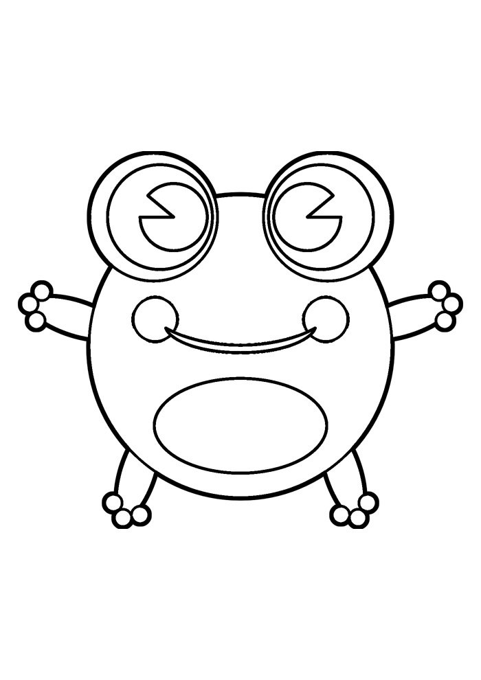 frog coloring page 13