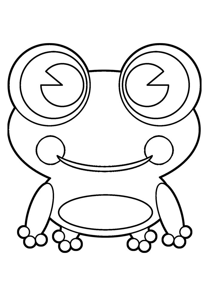 frog coloring page 14