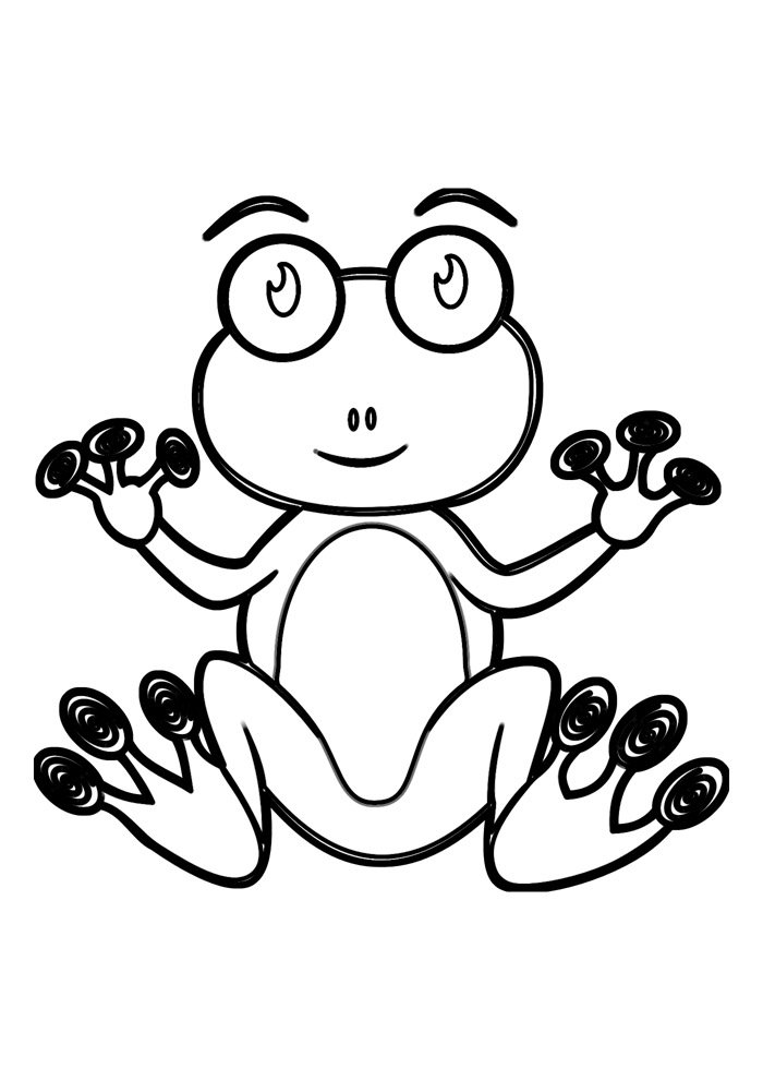 frog coloring page 15