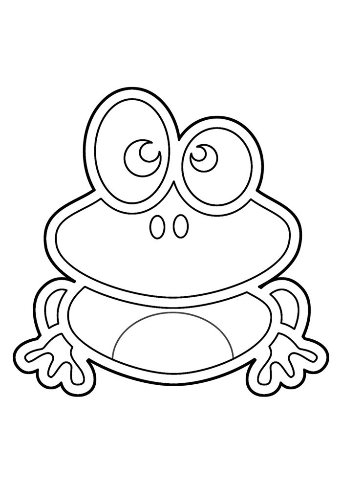 frog coloring page 17