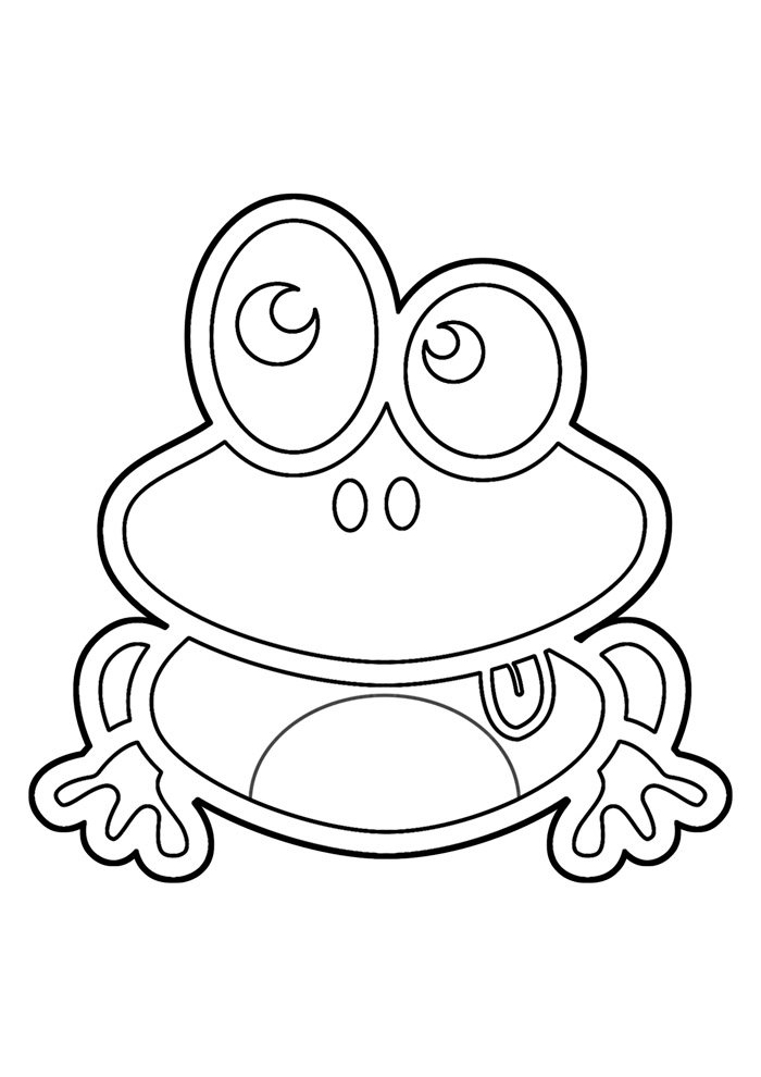 frog coloring page 18