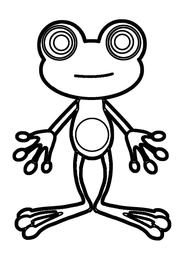 frog coloring page 27