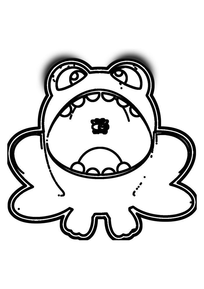 frog coloring page 30