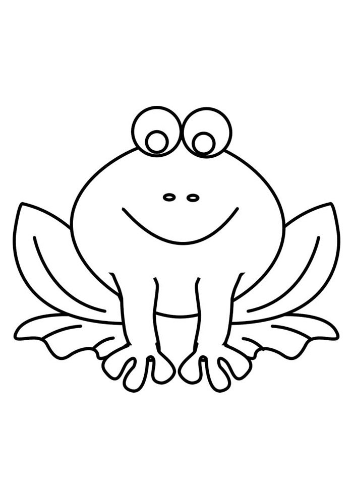 frog coloring page 33