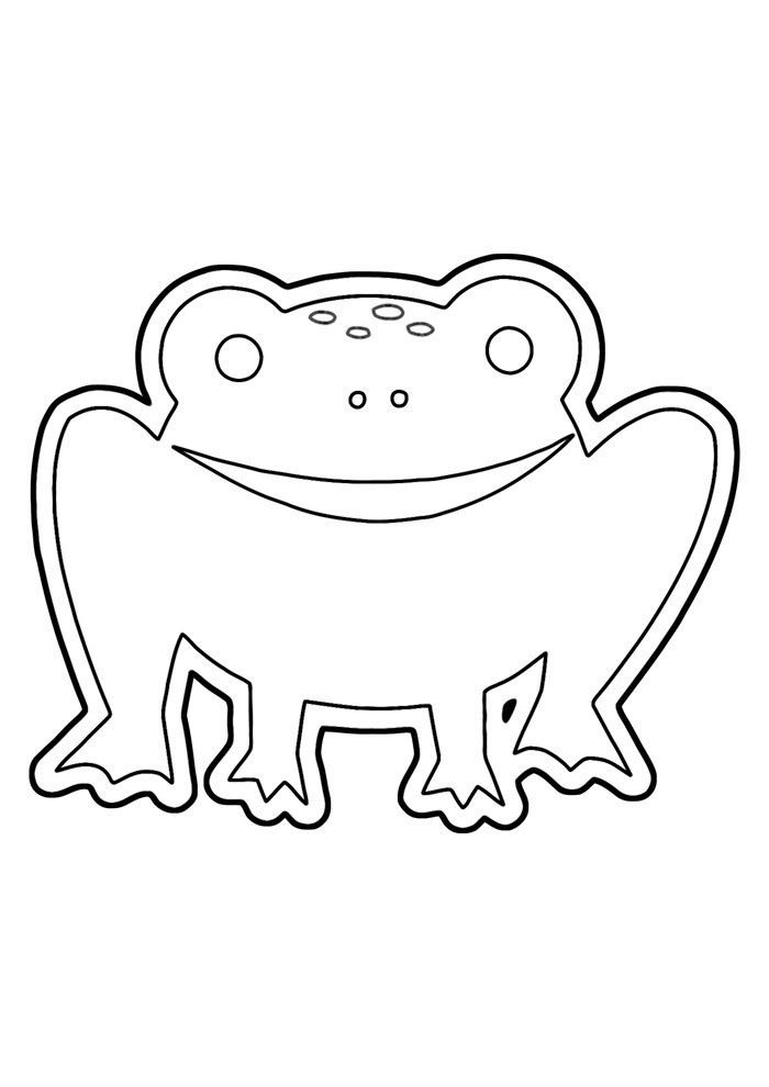 frog coloring page 5