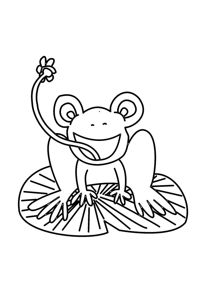 frog coloring page 6