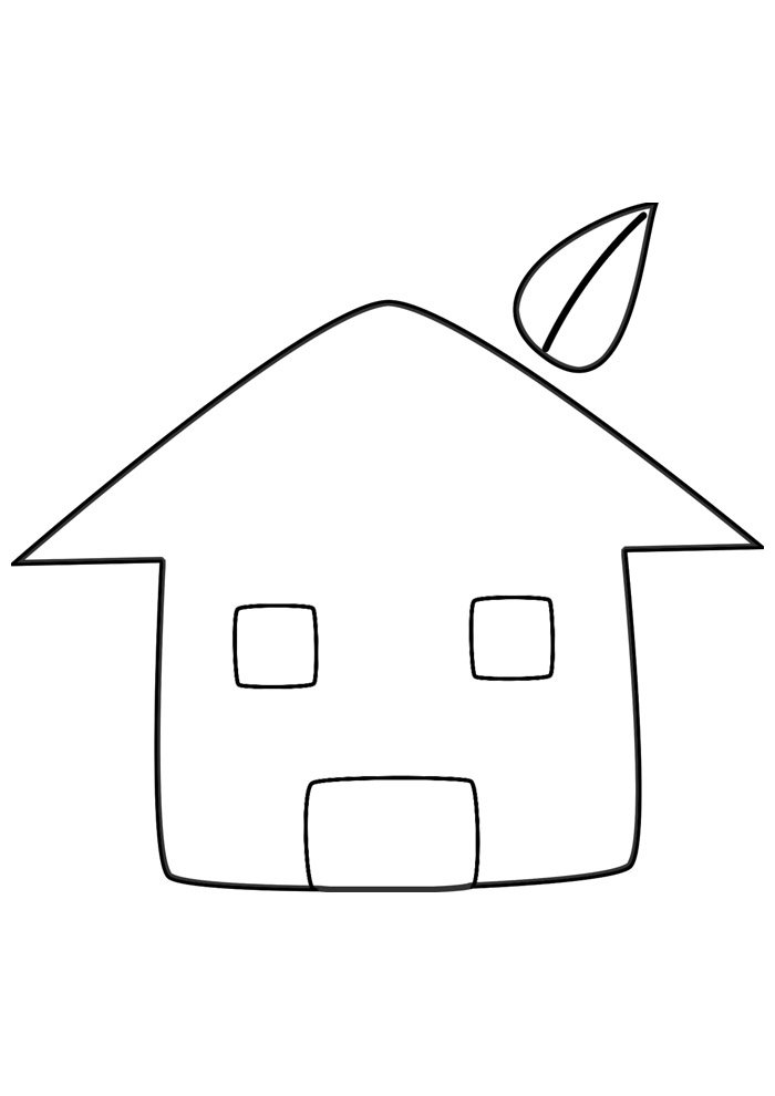 house coloring page 1