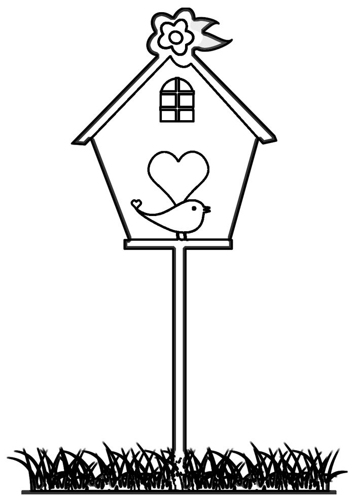 house coloring page 13