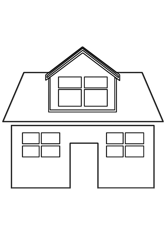 house coloring page 14