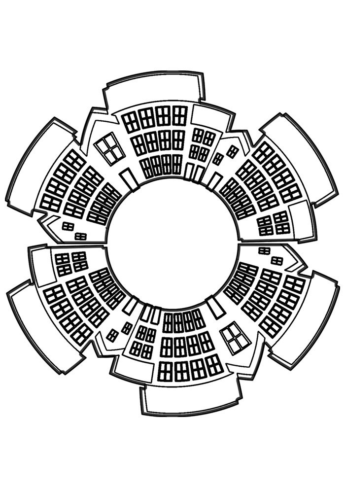 house coloring page 16