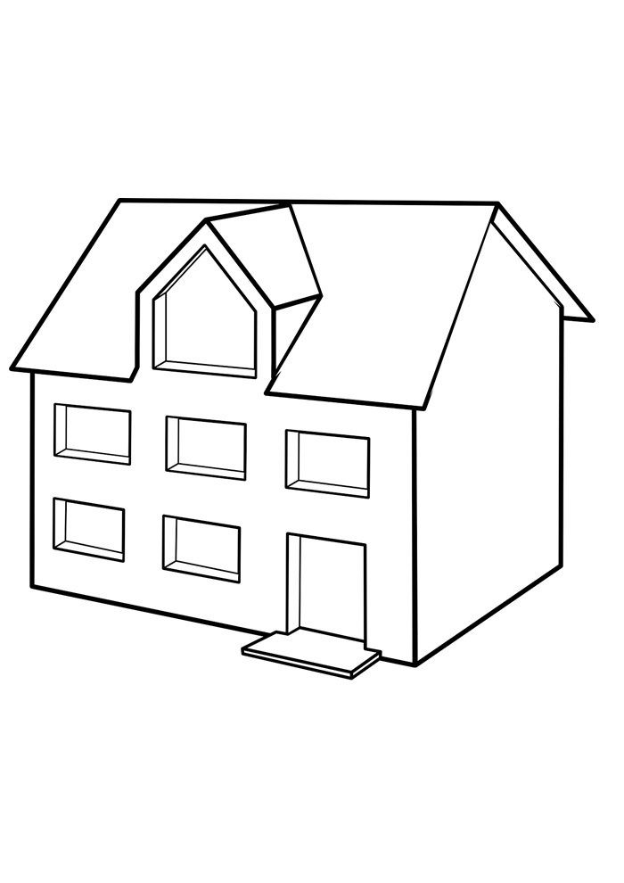 house coloring page 20