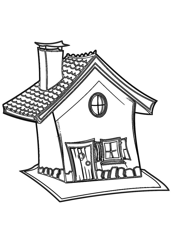 house coloring page 21