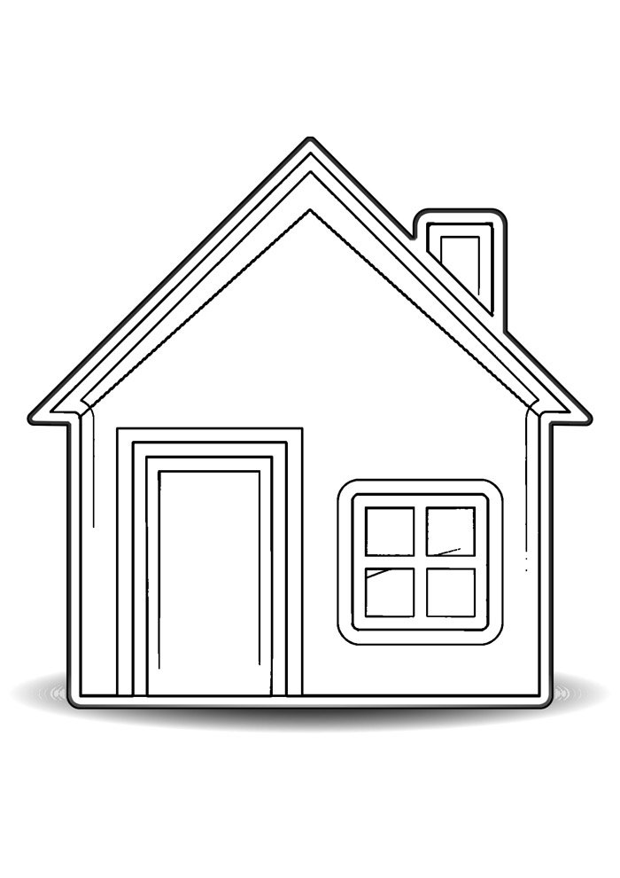 house coloring page 22