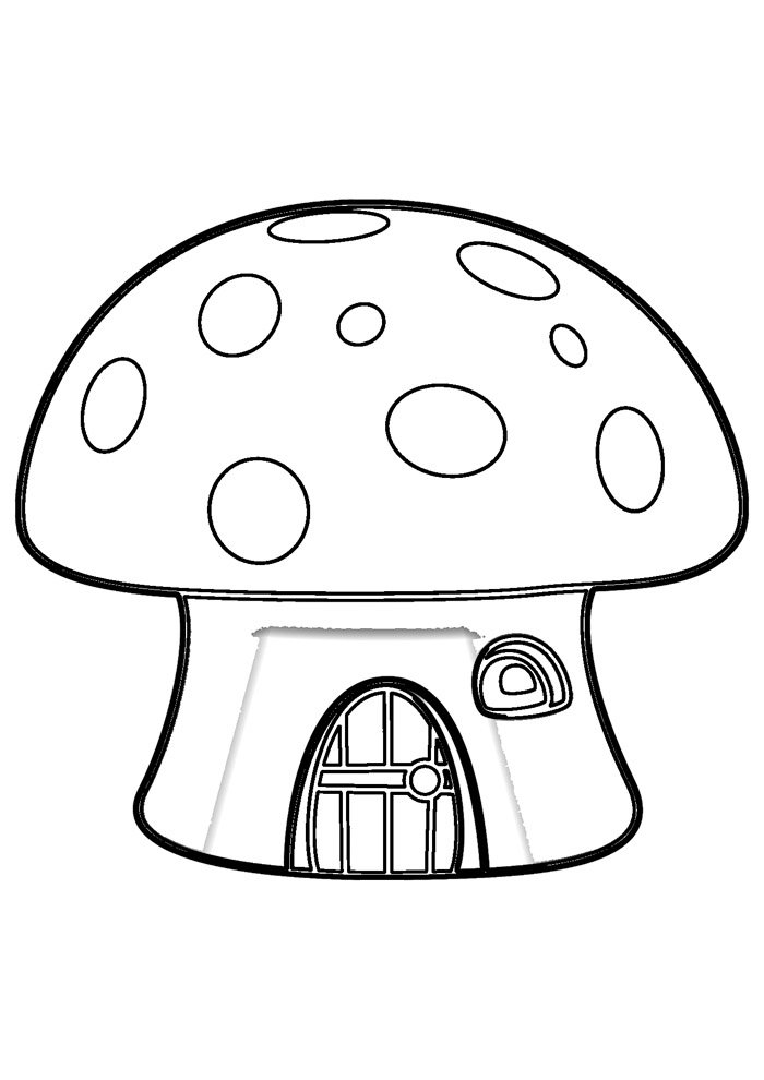 house coloring page 23