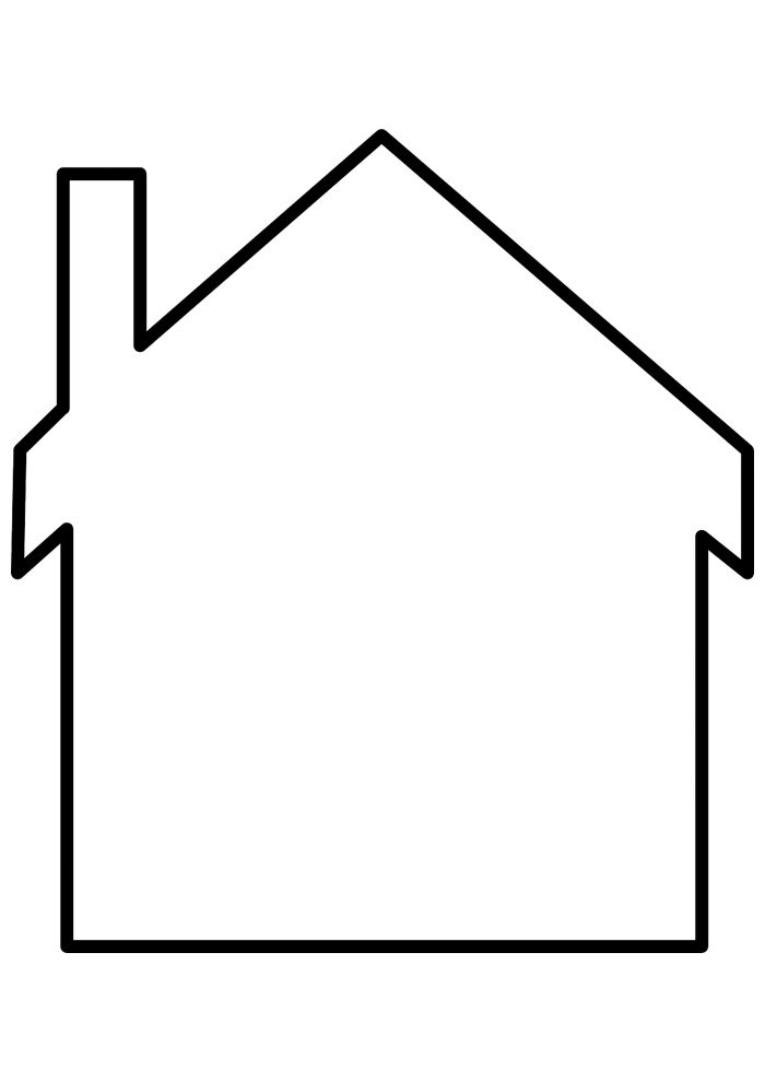house coloring page 24