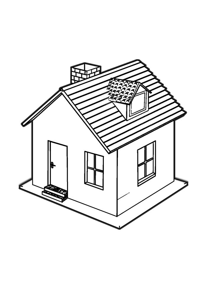 house coloring page 25