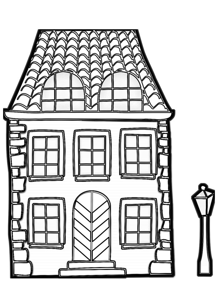 house coloring page 26
