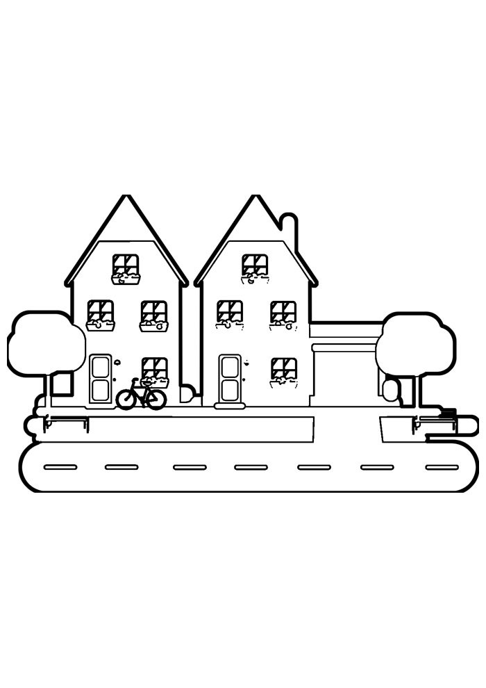 house coloring page 29