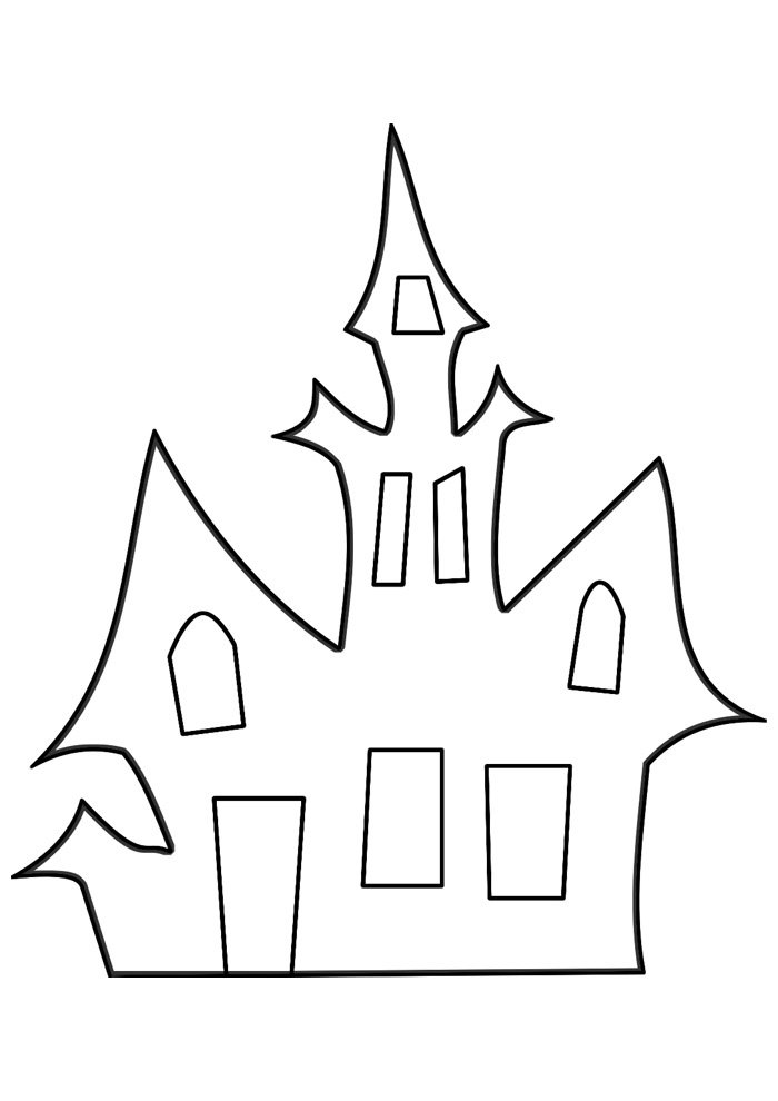 house coloring page 3