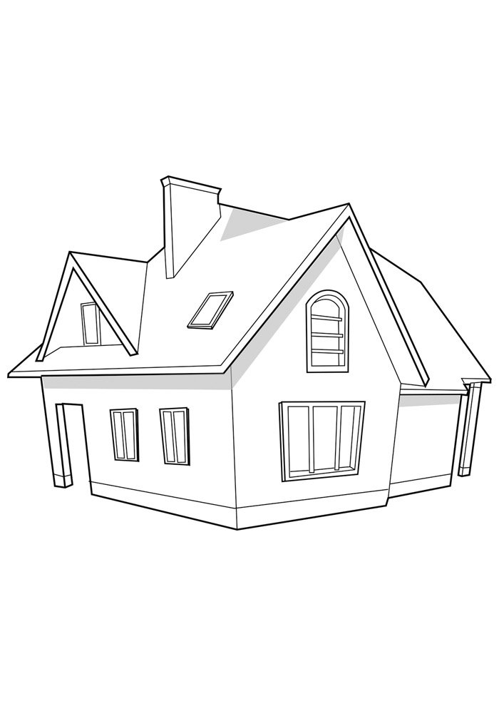 house coloring page 31