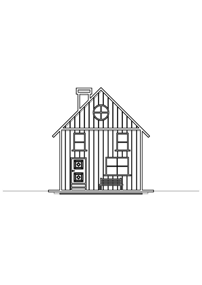 house coloring page 32