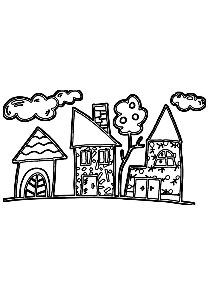 house coloring page 33