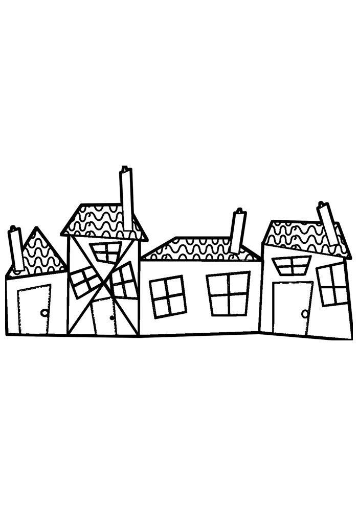 house coloring page 36