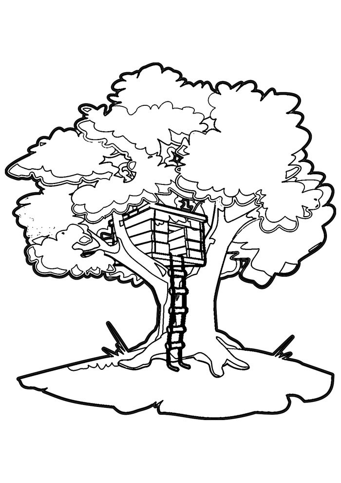 house coloring page 38