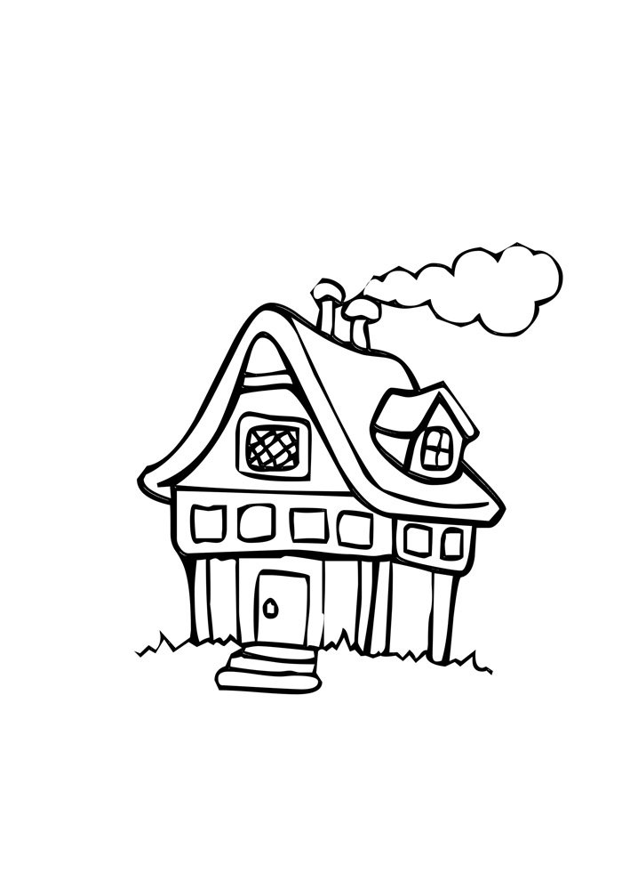 house coloring page 5