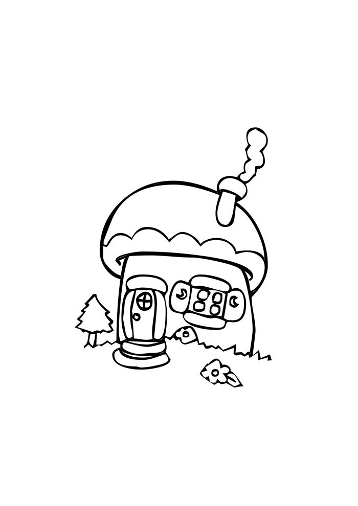 house coloring page 6