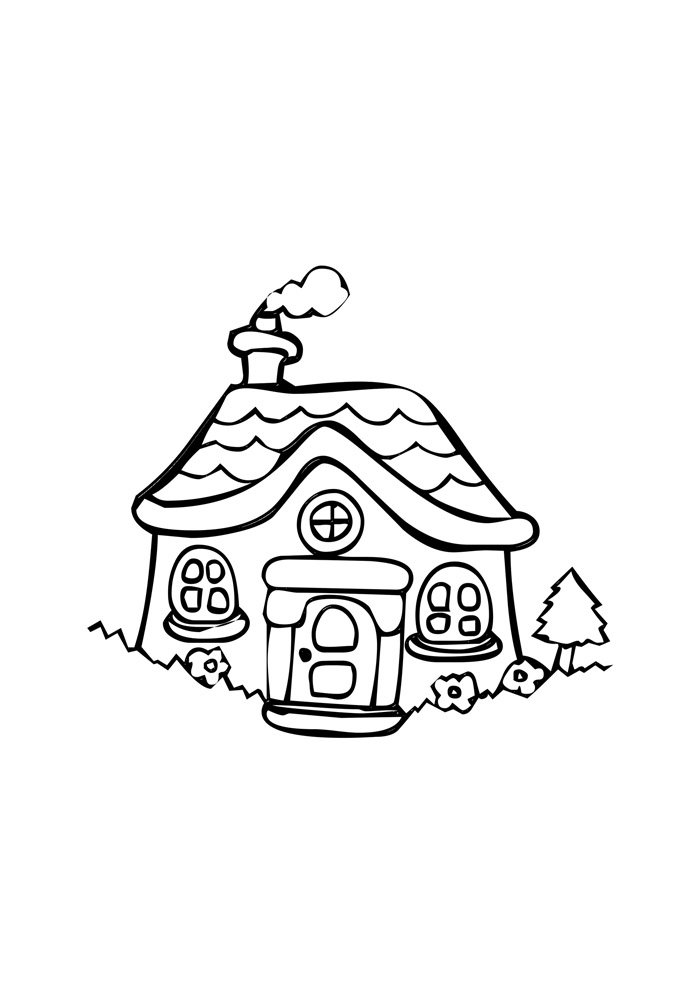 house coloring page 7