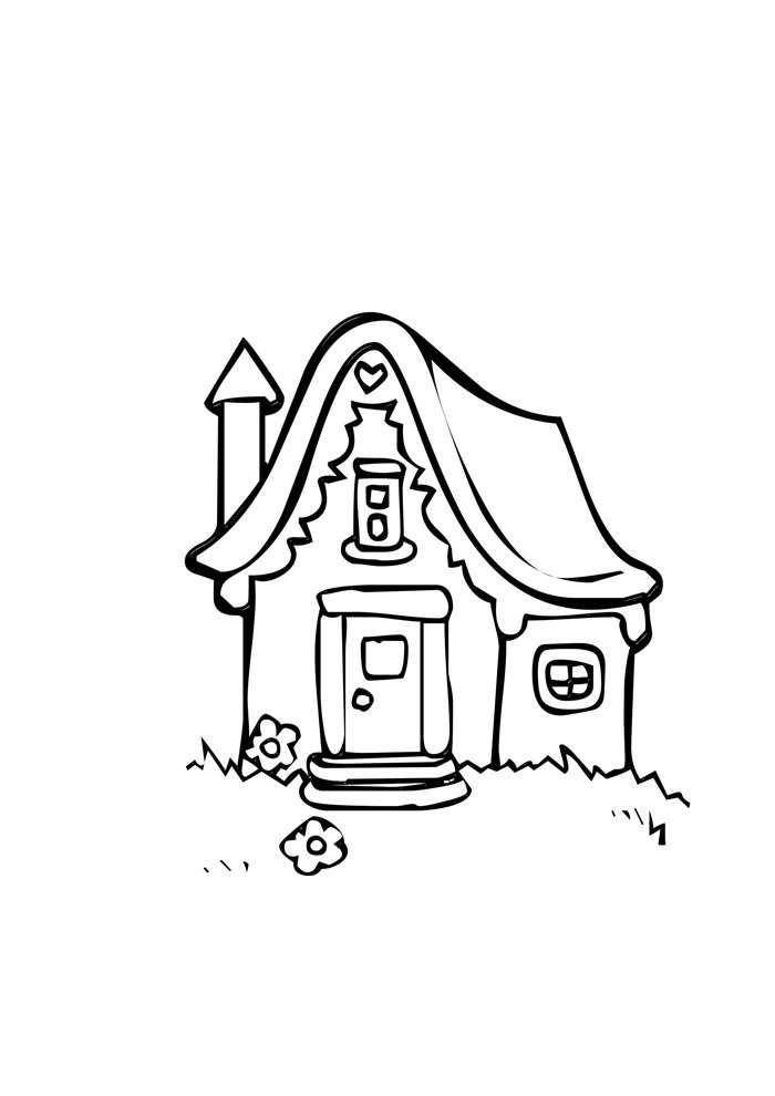 house coloring page 8