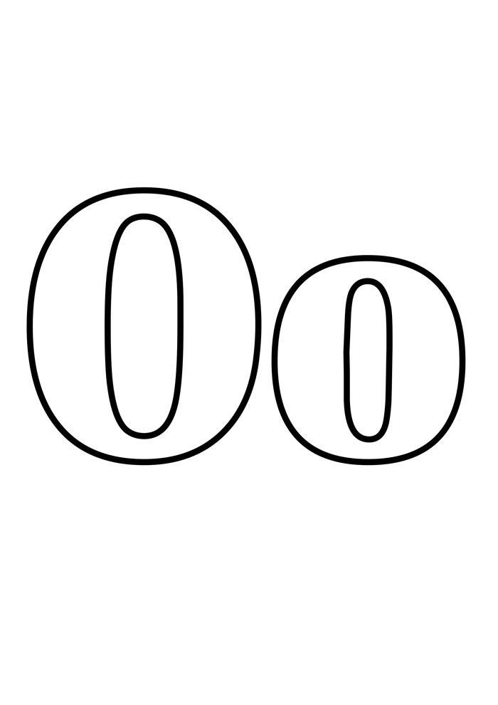 letter o coloring page