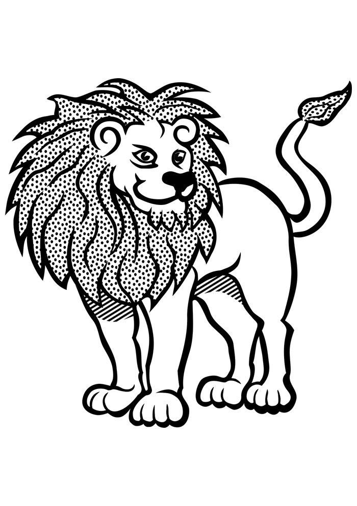 lion coloring page 1