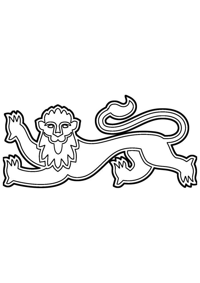 lion coloring page 14