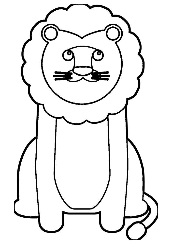 lion coloring page 15