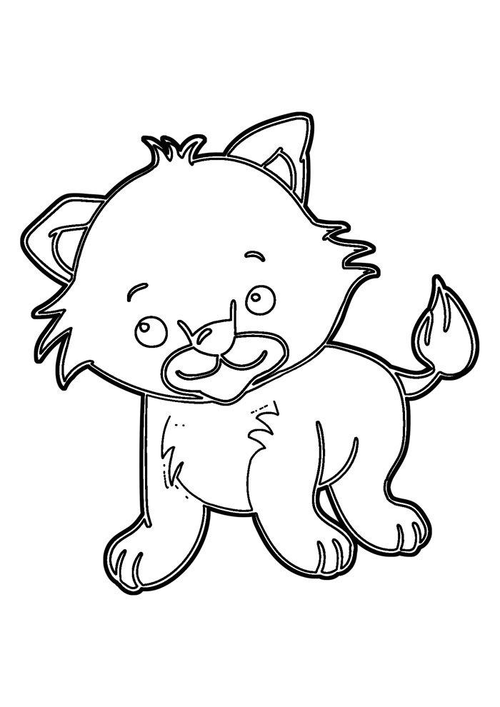lion coloring page 17