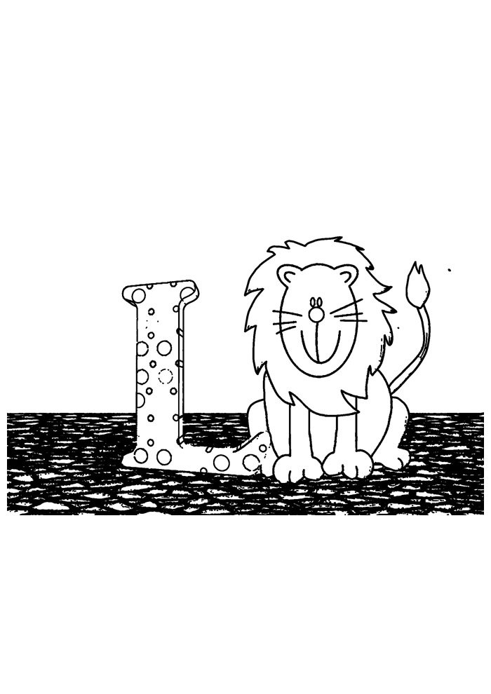 lion coloring page 18